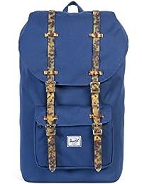 Herschel Supply Co Herren Little America Straps Logo Rucksack, Blau