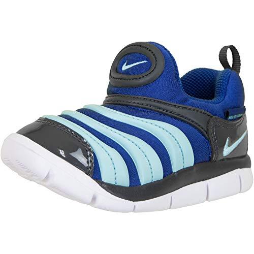 Nike Dynamo Free Kids Sneaker (23 1/2 EU, Indigo/Blue) (Nike Schuhe Free Kid)