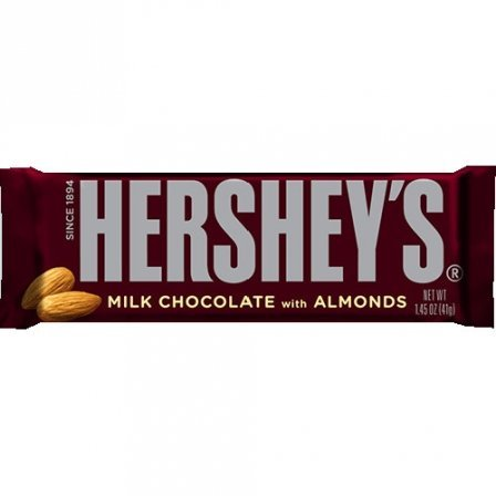 Hershey's Milk Chocolate with Almonds 1.45 OZ (41.1g) (Hersheys Milk Chocolate Bar)