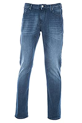 Armani Jean J06 Slim in Mid Blue Denim
