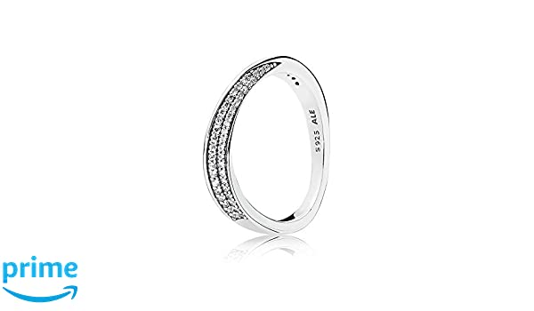 d4e9cc5e8 Pandora Women Silver Ring - 197136CZ-60: Amazon.co.uk: Jewellery