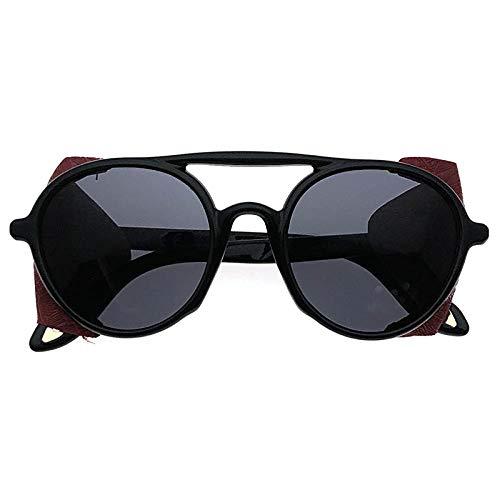 fuqiuwei Sonnenbrillen Vintage Runden Rahmen Sonnenbrille Weibliche Persönlichkeit Sonnenbrille Visier Brille
