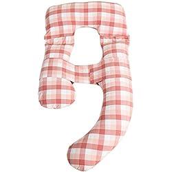 MinMin Oreiller en forme de U - oreiller en forme de U pour les femmes enceintes soutenant l'oreiller de soutien pour l'estomac, oreiller de sommeil multifonctionnel pour nettoyer la protection de l'é