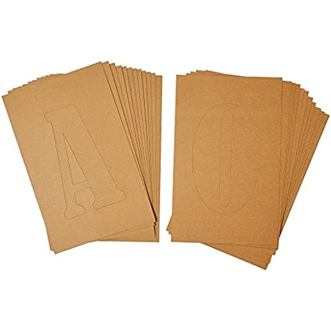 Plaid: Craft cartón FolkArt Home Decor plantilla plantilla de letras