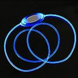 CricTeQleap Mode Nachtsicherheit Hundehalsband Hell Einstellbare LED Luminous Halskette Halsband Blue