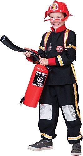 Feuerwehrmann Kostüm Ted - Feuerwehr Anzug für Kinder Gr. - Funny Kostüm Feuerwehrmann