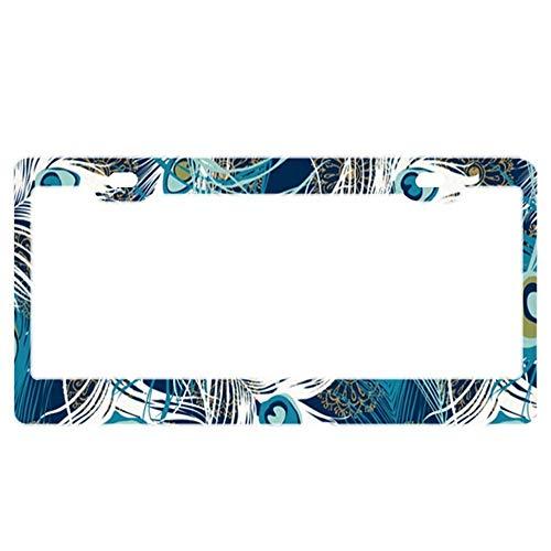 License Plate Frame Holder (Stainless Steel License Plate Frame Funny Custom Mossy Oak Camo in Grande Metal Tag Holder 12 x 6 Inch 2 Packs)