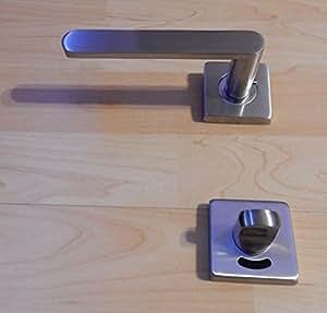 t rdr cker wc t rbeschlag edelstahl eckig dr cker f r wc. Black Bedroom Furniture Sets. Home Design Ideas