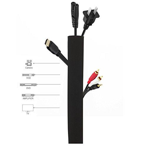 Tv-verschluss (maxzone EasyLoop - Klett Kabelkanal System und Kabelbinder, TV / PC Kabelmanagement durch flexiblen Kabelschlauch aus 100% Klettverschluss Material, 105cm)