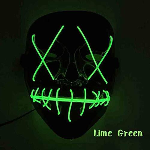 Cehar Halloween Horror Maske LED Light EL Wire Karneval Maske Cosplay Maske für Festival Cosplay Halloween Kostüm Accessoires