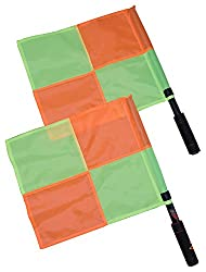 SAHNI SPORTS Plastic Stick & Polyester Football Referee Linesman Flag, Pack of 2