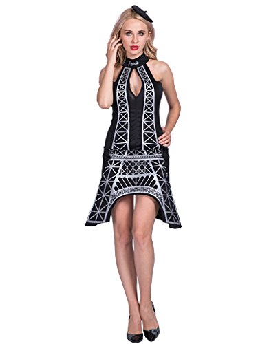 EraSpooky Femme Eiffel Tower Déguisements Halloween Costume French Paris Robe