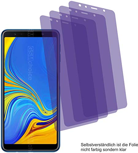 4x Crystal clear klar Schutzfolie für Samsung Galaxy A7 2018 Displayschutzfolie Bildschirmschutzfoli Schutzhülle Displayschutz Displayfolie Folie Samsung Crystal