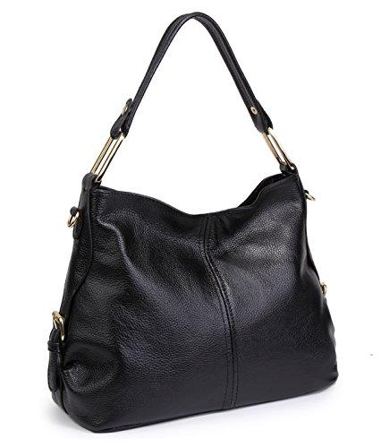 KorMei - Hobo borse donna Black