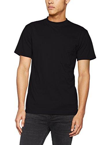 James & Nicholson Herren T-Shirt Men's Round-t Pocket Schwarz (Black)