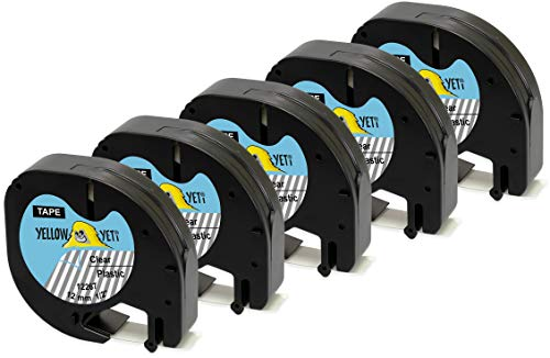 Black on White 19mmx7m Labelwell 3 Pack Compatible Dymo D1 45803 S0720830 Label Tape for Printer Dymo LabelManager 100 110 120P 150 LabelPoint 100 150 200 350 PC PC2 PnP WiFi LabelWriter 450 Duo