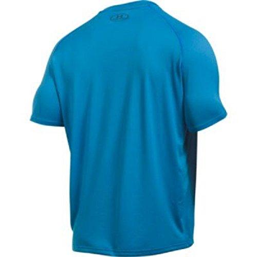 Under Armour Men's Fitness Und Tank Ua Tech Ss Tee Short-Sleeve T-Shirt Blau (Brilliant Blue Stealth Grey)