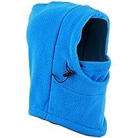 3 en 1 Calentador de Cuello Gorro de Esquí, TININNA Mascarilla Facial Cubrecuello Resistente al Viento,Invierno al Aire Libre Bufanda Sombrero Máscara para Niños Niñas;Azul