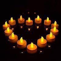 HUANGMENG Candle 10 PCS Flameless LED Tea Light Electric Candles