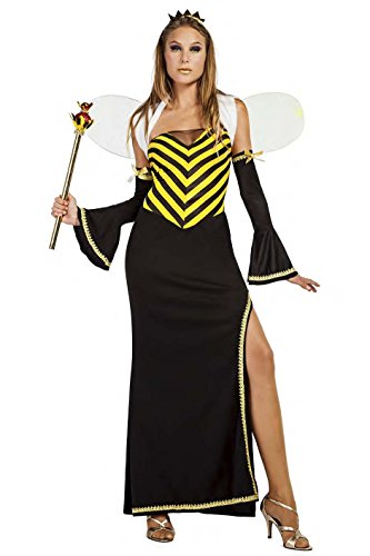 Imagen de disfraz abeja reina largo talla m/l tamaño adulto
