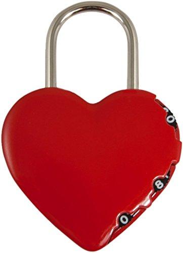 Stanley 81200à 3chiffres Cadenas en forme de coeur–rouge