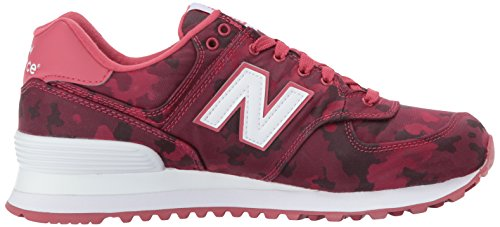 New Balance Wl574, Stivaletti Donna Rosso (Red)