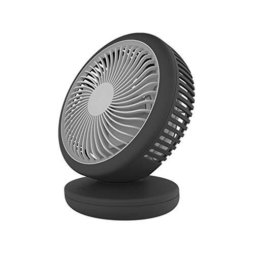 Elektrischer Ventilator-LX Desktop Small Fan Mute Tragbares Büro USB-Lade Mini Home Student Schlafsaal Fan Turbo Fan Base Fan (Color : Black)
