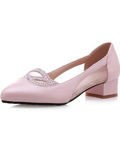 ZQ Scarpe Donna - Mocassini - Ufficio e lavoro / Formale / Casual - A punta / Chiusa - Quadrato - Tulle / Finta pelle - Blu / Rosa / Bianco , pink-us9.5-10 / eu41 / uk7.5-8 / cn42 , pink-us9.5-10 / eu white-us8.5 / eu39 / uk6.5 / cn40