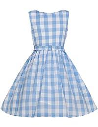 Lindy Bop AUDREY Picnic KIDS Kinder Vintage GINGHAM Retro Kleid Rockabilly