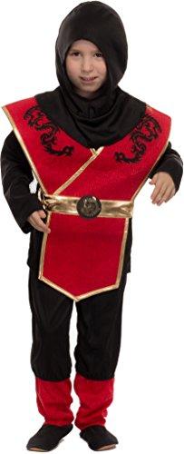Junge Mädchen Und Ninja Kostüm - Brandsseller Jungen Kostüm Verkleidung Fasching Karneval Party - Ninja, S