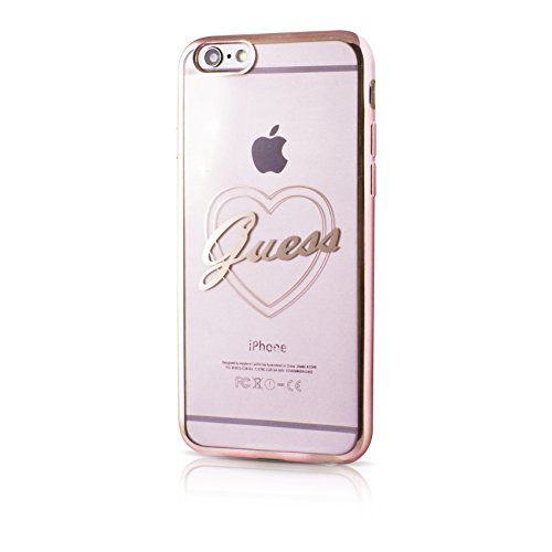 Guess GUHCP6TRHRG Signature Heart TPU Hard Case für Apple iPhone 6/6S rose gold rose gold