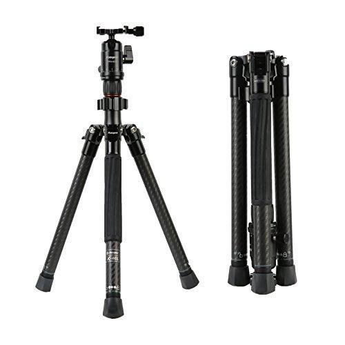 Fotopro X Aircross 1 Aluminum 5Ft Professional Tripod Stand with FPH 42Q Ball Head for DSLR Cameras Payload 8kg  Matt Black
