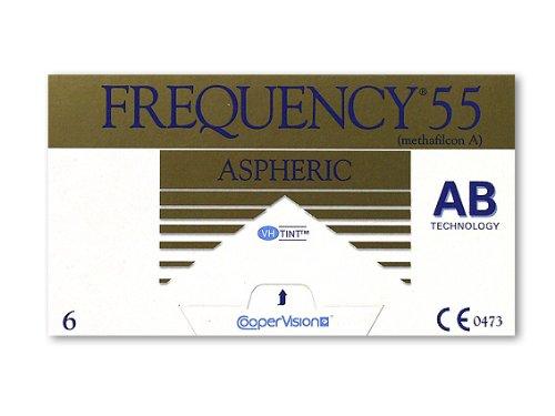 Frequency 55 ASphere Monatslinsen weich, 6 Stück / BC 8.70 mm / DIA 14.40 mm / -4.25 Dioptrien