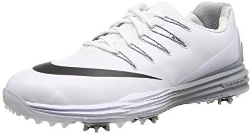 Nike Lunar Control 4, Chaussures de Golf Homme, Blanc (White/Black/Wolf Grey), 46 EU