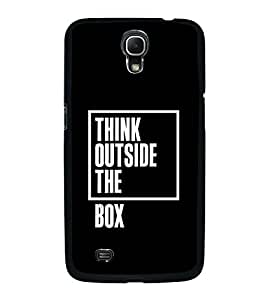 Fuson Think Outside The Box Designer Back Case Cover for Samsung Galaxy Mega 6.3 I9200 :: Samsung Galaxy Mega 6.3 Sgh-I527 (Love Quotes Inspiration Emotion Care Fun Funny)