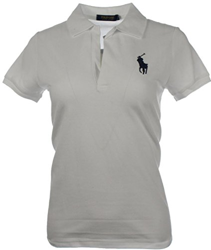 RALPH LAUREN Volley Polo-Hemd Gr.M, Big Polo Pony, WHITE (Ralph Design-stoff Lauren)