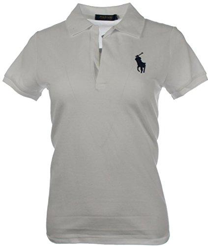 RALPH LAUREN Volley Polo-Hemd Gr.M, Big Polo Pony, WHITE (Lauren Ralph Design-stoff)