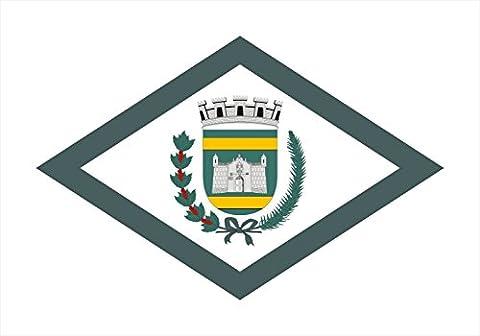 magFlags Drapeau XL CampoMourao Parana Brasil | Campo Mourão city, Paraná, Brazil | Município de Campo Mourão no Estado do Paraná | drapeau paysage | 2.16qm | 120x