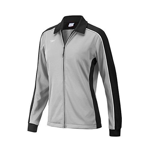 Speedo 7201482 Women's Streamline Warm Up Jacket, Black/Grey - (Speedo Badeanzug Verkauf)