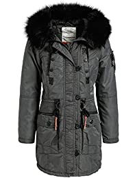 dcb6bf947c41 khujo Dhalia Damen Parka Mantel Winterjacke Jacke (vegan hergestellt)