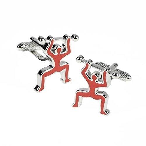 Rouge Poids de boutons de manchette en boîte cadeau Design - livrés Londres ck929