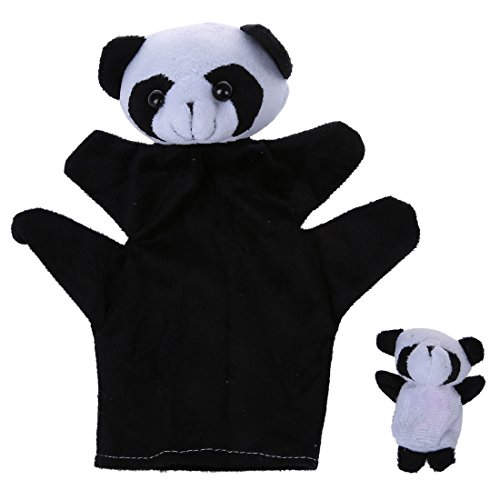 TOOGOO Panda Black and White Finger Puppet and Hand Puppet