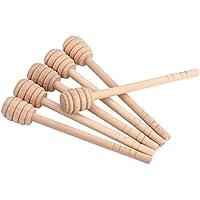 50pcs Set de Cazos de Tarro de Mermelada Miel Palo Barra para Dispensar, Recoger, Agitar Miel (15cm)