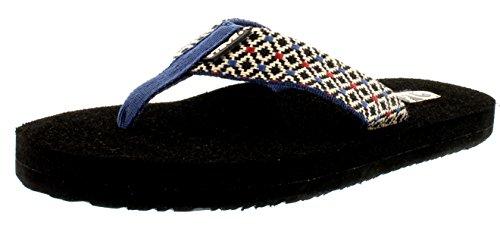 Teva - Sandali, Donna Multicolore (Mehrfarbig (605 rombo black multi))