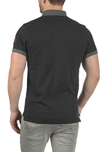BLEND Ralf Herren Poloshirt T-Shirt Kurzarm Black (70155)