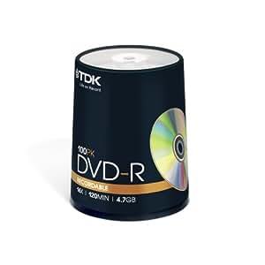Tour DVD-R, 4.7 Go, x 16, 100 pièces