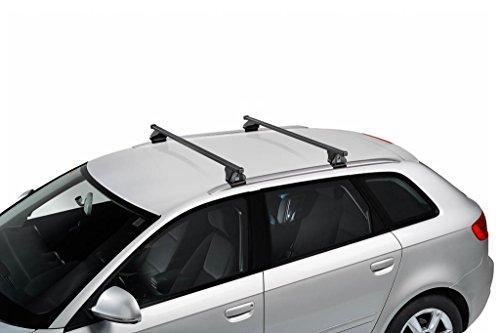 kit barre portatutto in acciao per AUDI A3 5p Sportback (8V - railing integrato) 2013-