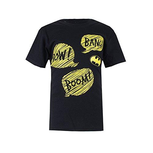 DC Comics Jungen Batman Pow-Boys T-Shirt-Black-Sml, Schwarz, 5-6 (Flash Kid Hoodie)