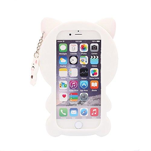 "Iphone 6Plus / 6S Plus (5,5-Zoll) Hülle, Koala Group® 3D-Tiermodellen Silikon Fallschutz -Sets von ""Rainbow / weiße Katze / schwarze Katze / Love Cats / Burger Bear / Shy Affe (Black Cat) White Cat"