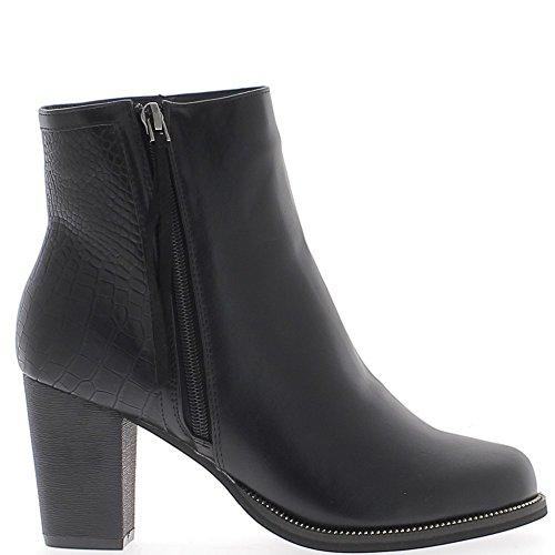 bottines-femme-doublees-noires-a-talon-de-8cm-bi-matiere-38